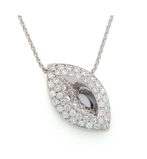 14K White Gold - 0.57 ct. of Diamond