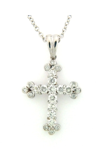 14K White Gold - 0.41 ct. of Diamond.